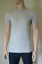NUOVO Abercrombie & Fitch Palmer Brook LT GRIGIO distrutto TEE T-SHIRT L rrp £ 68