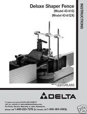 Delta Shaper Fence 43-812 & 43-812X Instruction Manual