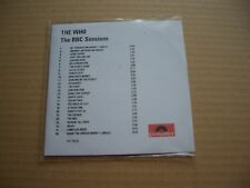THE WHO - THE BBC SESSIONS - RARE PROMO CD ALBUM IN A PVC SLEEVE / PRINTED INNER
