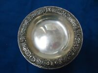 VINTAGE S. KIRK AND SON REPOUSSE  STERLING SILVER CANDY DISH #409