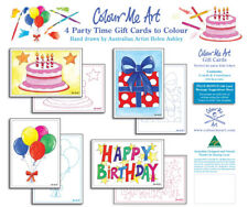 Party cards - Colouring Kits for Kids, kids craft, birthday party, birthday card