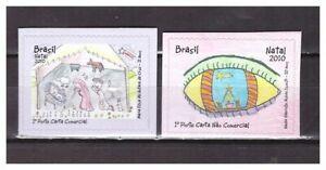 S24277) Brasil 2010 MNH Christmas 2v S-A