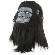 NWT Faux Fur Animated Gorilla Mouth Mover Mask  Realistic Planet of Apes Costume