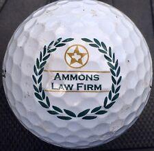 Ammons Law Firm logo On Prov1 golf ball Titleist Pro V 1 Display Legal