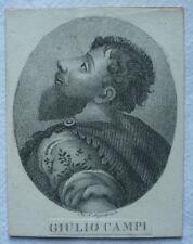 KUPFERSTICH GIULIO CAMPI Maler in Cremona 1500-1572 vor 1918 ca. 8 x 10 cm