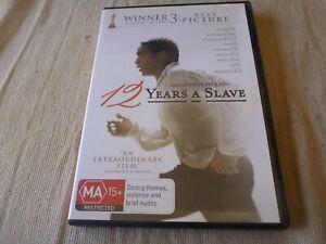 12 Years A Slave (DVD, 2014) Region 2 & 4 Chiwetel Ejiofor, Michael Fassbender
