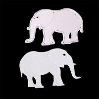 Stanzschablone Elefant Tier Hochzeit Weihnachts Oster Geburtstag Karte Album DIY