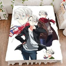 Yuri!!! On Ice Anime Viktor Yuri Soft Blanket Bed Sheet Collection Gift 59x79""