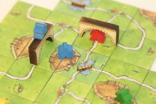Wooden board game 'Bridge' tokens, solid wood 'ideal for Carcassonne'.