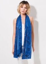 Women's Pia Rossini Sparkly sequin Isabelle Scarf Blue