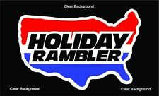 1 RV TRAILER CAMPER HOLIDAY RAMBLER GRAPHIC DECAL -935