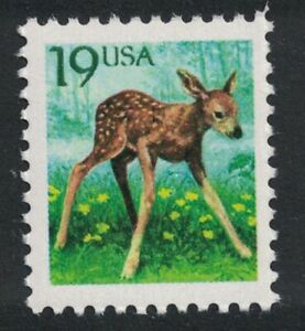 Scott 2479- 19c Deer Fawn, Flora & Fauna Series- MNH 1991- unused mint stamp