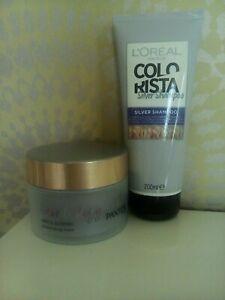 Pantene Hair Biology Grey Glowing Illuminating Mask + Colorista Silver Shampoo
