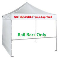 Support Hardware 2pcs Rail Bar for 10x10 Ez Pop Up Canopy Flea Booth W/Carry Bag