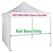 2pcs Support Part Rail Bar for 10x10 Ez Pop Up Canopy Flea Booth W/Carry Bag