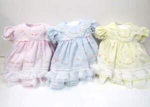 Will'beth Preemie Newborn Baby Girl Fancy Frilly Portrait Dress NWT Lace Dolls