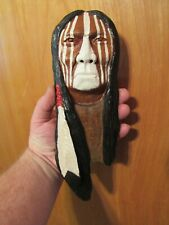 Wood Spirit Carving Wood Spirit, Native American Indian Warrior Pride