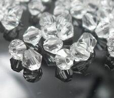 1000pcs Transparent Facet Bicone Crystal Acrylic Loose Beads 4mm DF549