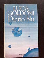 Diario blu - Luca Goldoni [prima edizione] Rizzoli - 1995 . libro