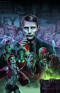 HANNIBAL THEY LIVE Art Print Poster Living Dead mash-up by Scott Jackson