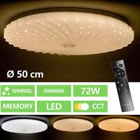 LED Lampe De Plafond Étoiles Effet Lumière Du Jour Télécommande Spot Variateur