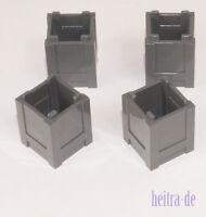 LEGO - 4 x Kiste 2x2x2 dunkelgrau / Kisten / Box / Container / 61780 NEUWARE