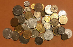 LOT OF 55  COINS EUROPE -ITALY,FRANCE,FINLAND, DENMARK,NETHERLANDS,RUSSIA,CZECH.