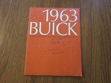 Original 1963 Buick Sales Brochure Wildcat Skylark Invicta Special Electra Lesab