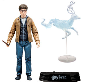 OEM Harry Potter w/ Wand & Patronus Collectible Movie Figure Action Stand Set