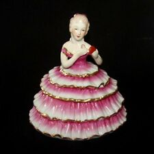 Limoges China Lady in Pink Powder Box - Pretty Half Doll Girl container