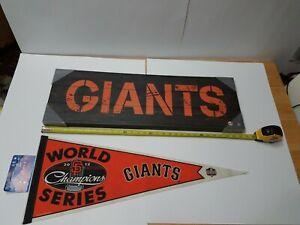 San Francisco Giants 2012 World Series Champions Pennant & Canvas Wall Decore