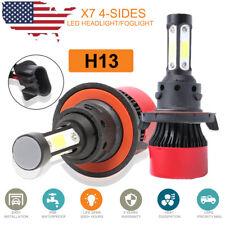 4 side H13 360W 48000Lm Cob Led Headlight Kit Bulbs High Low Beam 6500K White(Fits: Hummer)
