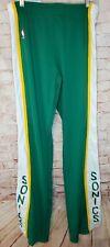 "Vintage Seattle Supersonics MacGregor Sand Knit NBA Warm Up Pants 80s 41"" Inseam"