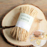 10pcs/bag Natural Raffia Dry Straw Paper Wrap Rope For Wedding Packaging Box