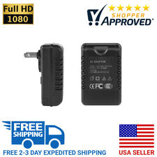 SpygearGadgets 1080P HD Pro Grade Motion Activated AC Adapter Hidden Spy Camera
