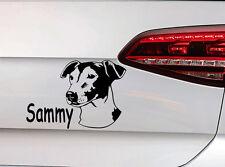Hunde Aufkleber Jack Russel Sticker mit Wunsch Namen Dog Decal JDM Premium Folie