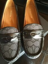 COACH Penny Signature Outline Flats. Black/Smoke. Size 7 Medium. NEW In box!