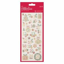 Docraft Papermania Glitter Dot Stickers -Christmas Numbers for cards and crafts