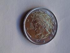Moneta 2 euro Dante Alighieri errore di conio