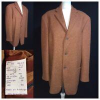STRELLSON  Mens Gents Overcoat Coat Jacket Blazer Rust Fleck UK 40 Spring 44 P2P