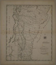 1796 Genuine Antique map of Vermont. John Reid