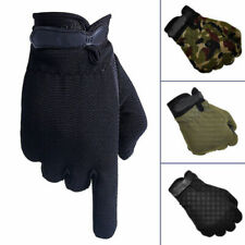 Mens Bicycle Anti-Slip Silicon Full Finger Gloves Outdoor Riding Bike Sport