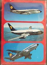 Lufthansa 1984 First Flight Duesseldorf Helsinki Photo Post Card.