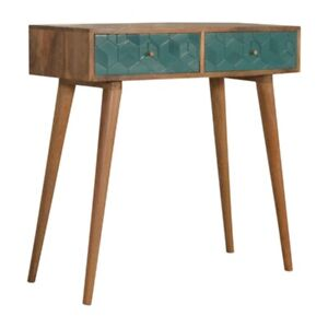 Console Table Solid Wood Furniture 2 Drawers Living Room Desk Storage Hand Made