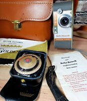 Vintage Bell & Howell 8mm Magazine Camera 172 with Leather Case & exposure meter
