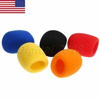 US STOCK 5pcs Handheld Microphone Sponge Foam Cover Windshield Mic Windscreen