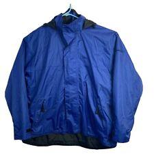 Bimini Bay Jacket Mens XL  Zip Waterproof Hooded Vented Hiking Fishing EUC