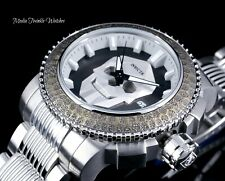 "NEW 50MM Invicta ""Skull"" Quartz Chronograph Sea Hunter AUTOMATIC Bracelet Watch"