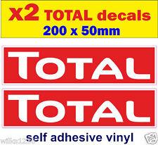 2 Total oil sponsor stickers rally race bike classic decals car van truck mini