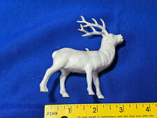 """Antique-VTG Celluloid Hard Plastic Xmas Reindeer Rudolph Red Nose Santa Claus"